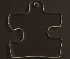 Blank Acrylic Autism Puzzle Piece